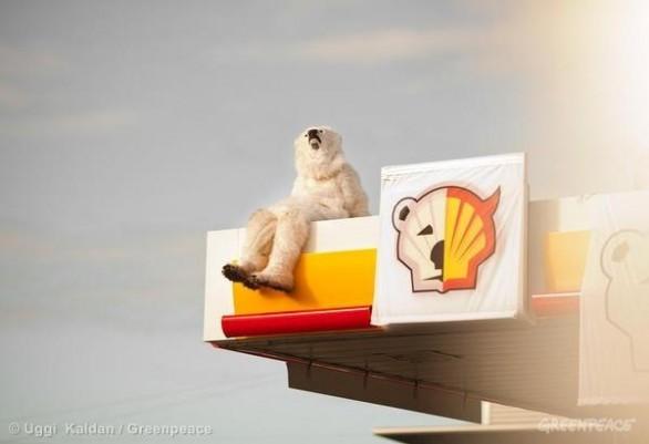 save the arctic greenpeace shell