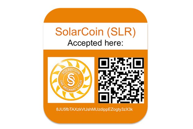 SolarCoin accepted here