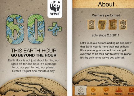 Earth Hour sull' iPhone