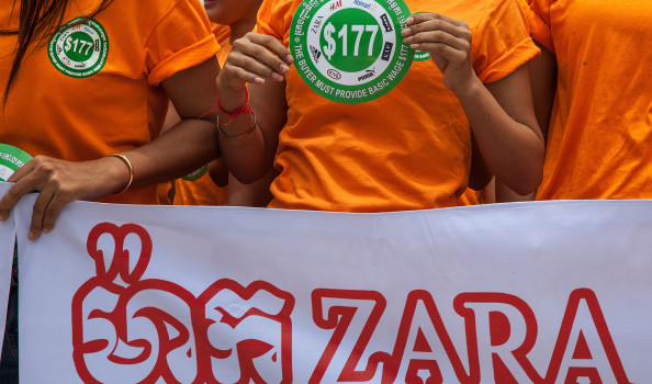 Garment Workers Gather In Protest Against Low Wages