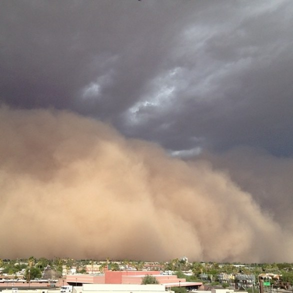 Tempesta di sabbia in Arizona