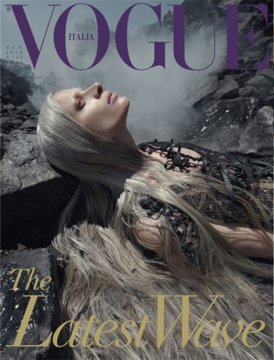 Copertina Vogue Italia water & oil