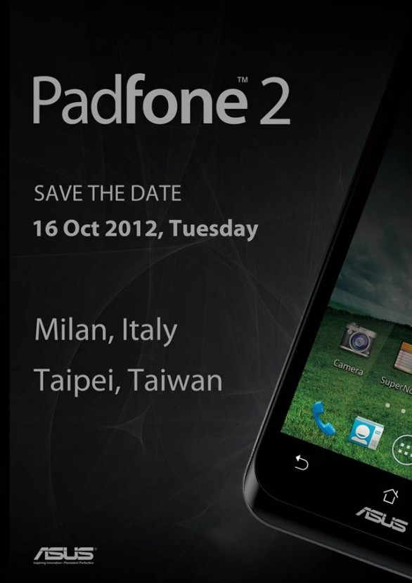 Asus Padfone 2: save the date
