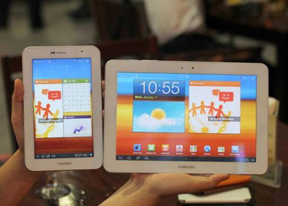 Samsung Galaxy Tab in total white