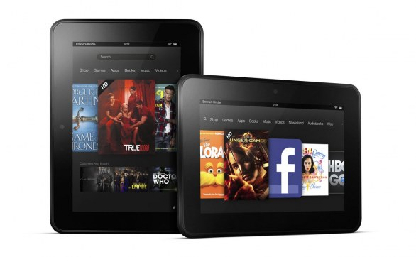 Amazon Kindle Fire HD, Kindle Fire e Kindle - galleria immagini