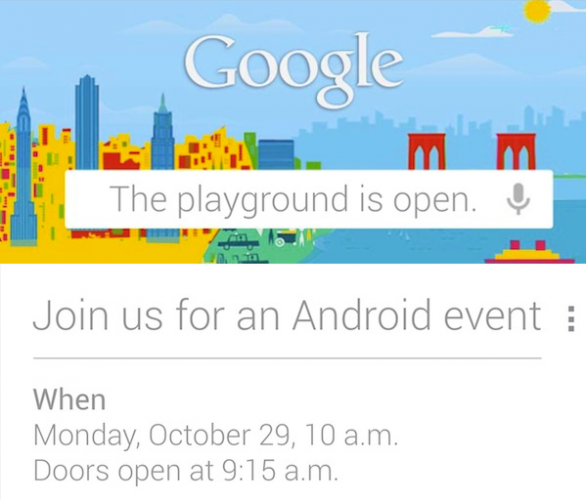 Google: The playground is open