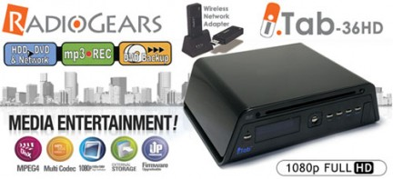 iTAB-HD36 dvd e media player per tv con wireless