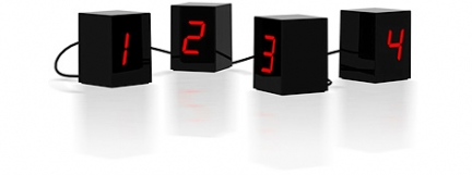open led clock