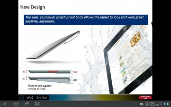 galleria degli slide su Sony Xperia Tablet