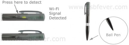 wi-fi ball point pen detector