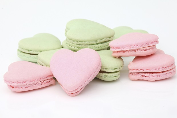 macarons a cuore