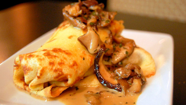 Ricetta crepes salate funghi