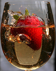 fragola in champagne
