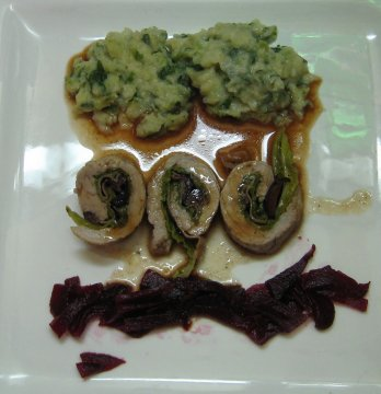 involtini vitello e scarola