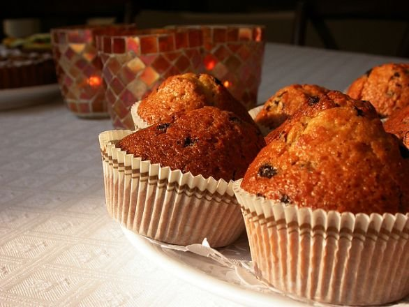 muffin all'uvetta e crusca