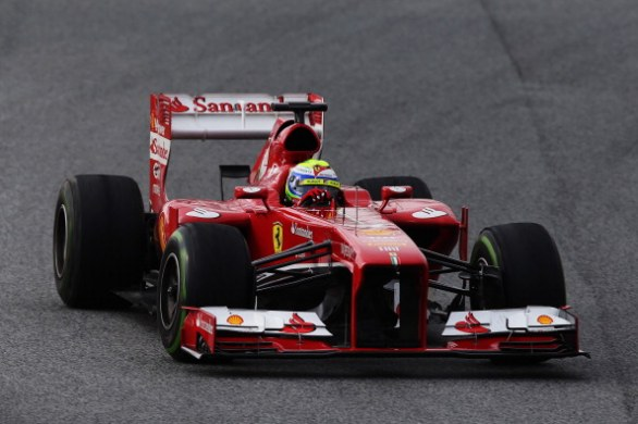 felipe massa barcellona day 1 2013