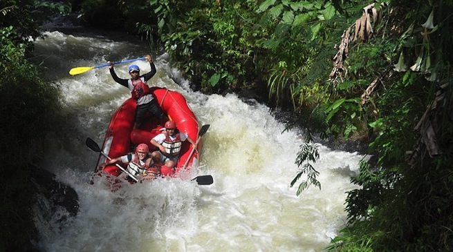 Rafting in montagna