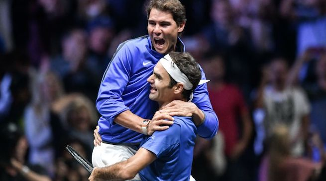 Federer Nadal amici in Laver Cup