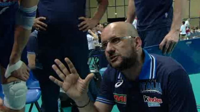 Mauro Berruto durante il time-out