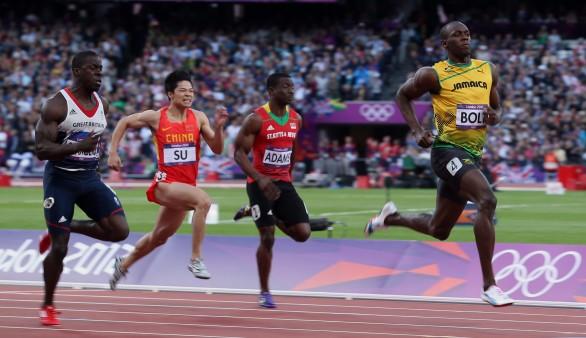 Londra 2012 atletica il video dei 100m vinti da usain bolt for Finale 100 metri londra