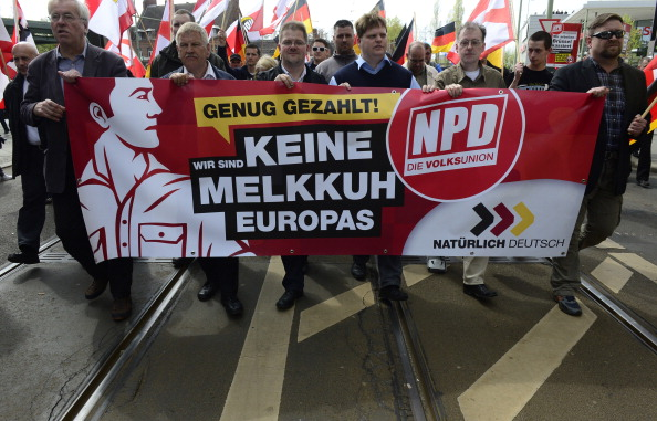GERMANY-MAYDAY-FARRIGHT-COUNTERMARCH-DEMONSTRATION