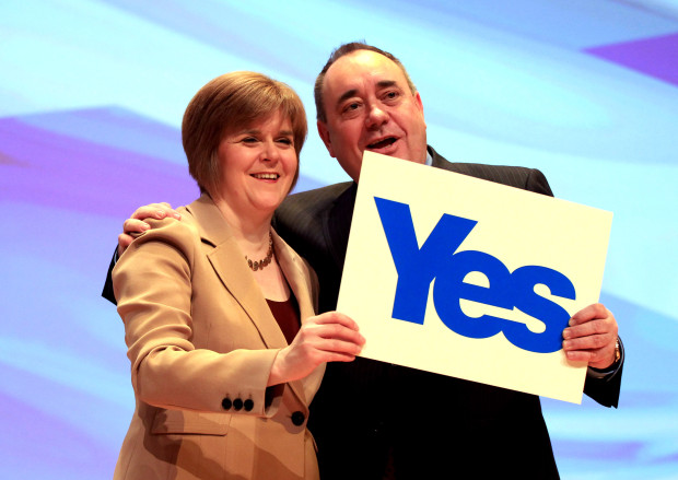 Scottish First Minister Alex Salmond Speaks At The SNP Annual Conference