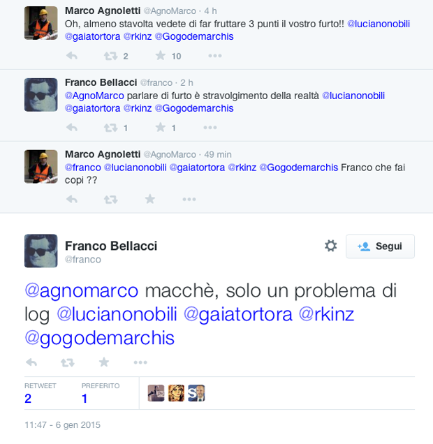 Tweet Franco Bellacci