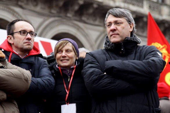 FIOM CGIL And Students National Strike