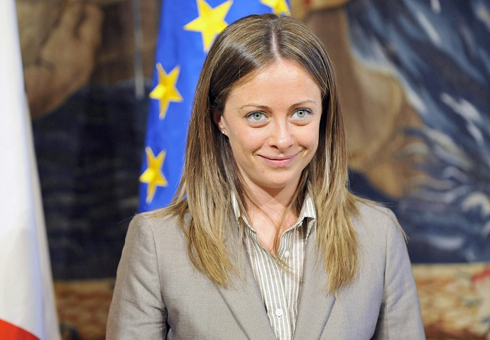 Italy's Youth Policies Minister Giorgia