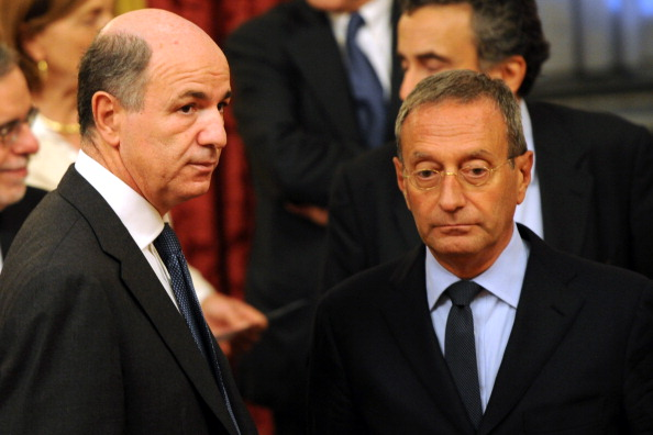(From L) Italian minister for the develo