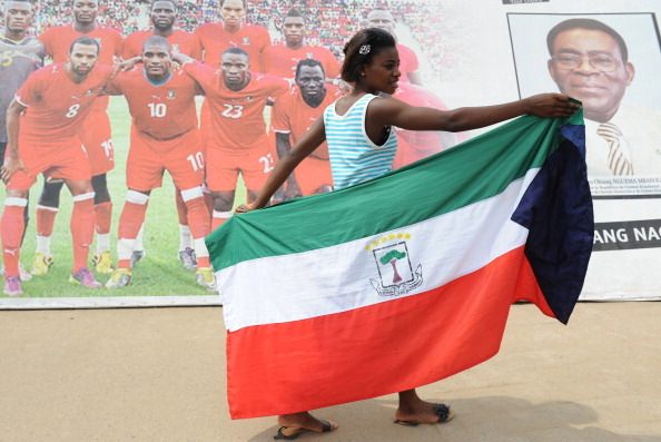 A supporter of the Equatorial Guinea nat
