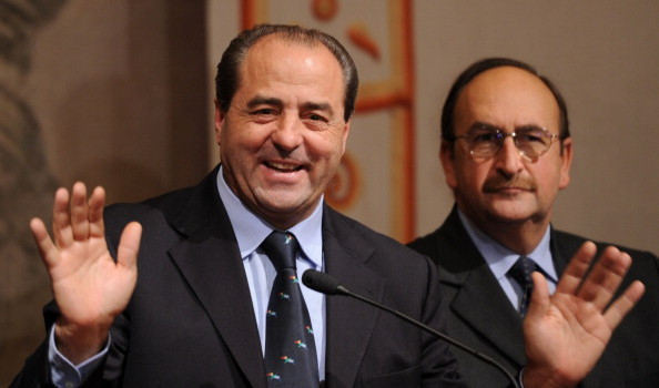 The head of the Italy of Values party (I