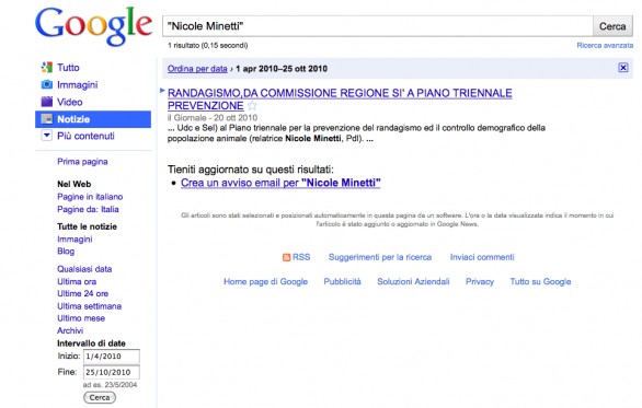nicole minetti google news query