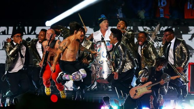 Bruno Mars Red Hot Chili Peppers Super Bowl 2014