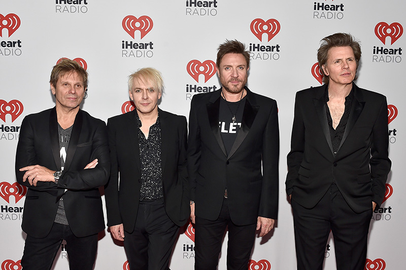 LAS VEGAS, NV - SEPTEMBER 18:  (L-R) Musicians Roger Taylor, Nick Rhodes, Simon Le Bon and John Taylor of Duran Duran attend the 2015 iHeartRadio Music Festival at MGM Grand Garden Arena on September 18, 2015 in Las Vegas, Nevada.  (Photo by David Becker/Getty Images for iHeartMedia)