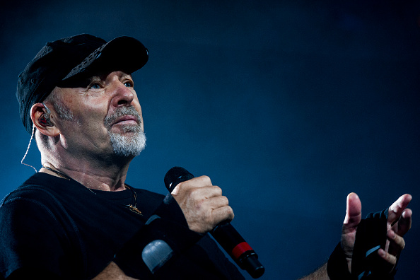 ROME, ITALY - JUNE 27: Italian singer Vasco Rossi performs in concert at Olympic Stadium on june 27, 2016 in Rome, Italy.  (Photo by Roberto Panucci/Corbis via Getty Images)