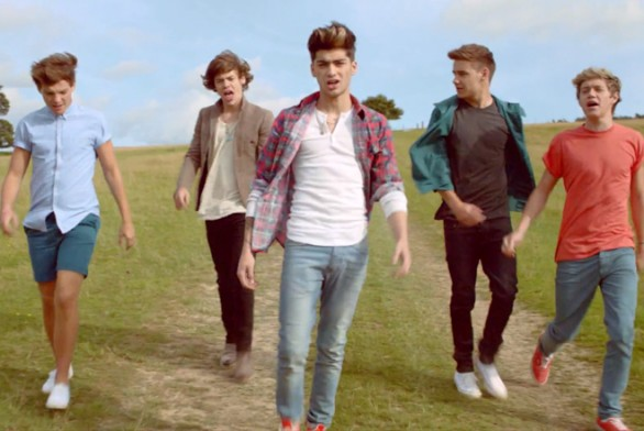 Live while we're young video