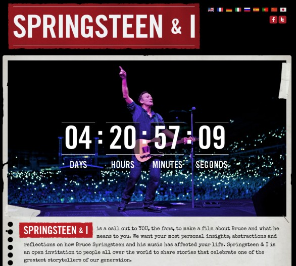 Springsteen and I - il documentario su i fan di Bruce Springsteen co-prodotto da Ridley Scott