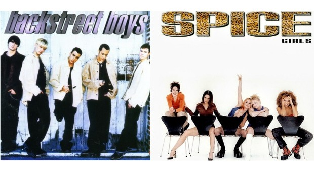 Backstreet Boys and Spice Girls