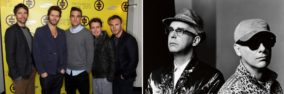 Pet Shop Boys con i Take That nel tour in Gran Bretagna