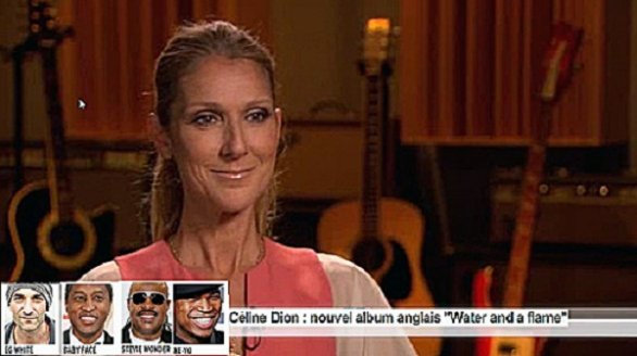 celine dion water and a flame
