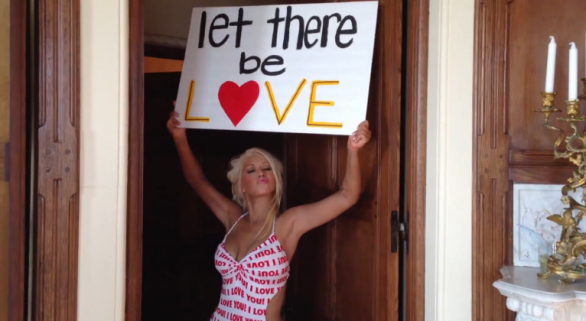 Christina Aguilera Let There Be Love video