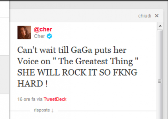 lady gaga e cher insieme in the greatest thing