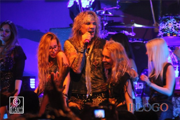 Girls onstage Steel Panther foto @ Alcatraz Milano, 31 Marzo 2015 - photos by Paolo Bianco