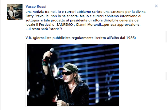 vasco rossi canzone per patty pravo