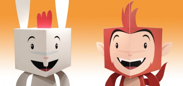 chickenhare-paper-toys