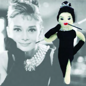 audrey hepburn knitted icons bambole a maglia