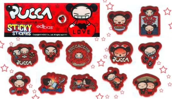 Pucca Love Sticky Stickers