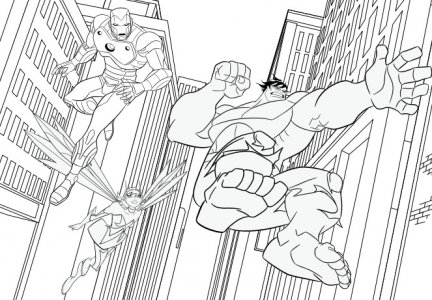 Thor iron man capitan america e hulk disegni da for Iron man da colorare