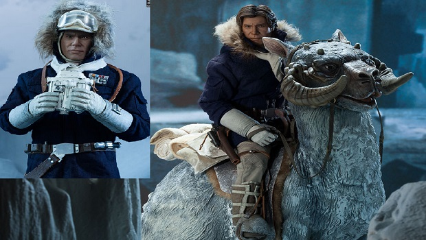 Star wars: l'action doll captain han solo hoth sixth scale figure